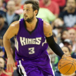 Oct 5, 2015; Portland, OR, USA; Sacramento Kings guard Marco Belinelli (3) brings the ball up court against the Portland Trail Blazers at Moda Center at the Rose Quarter. Mandatory Credit: Jaime Valdez-USA TODAY Sports