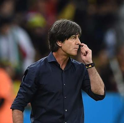 Germany's coach Joachim Loew reacts during the Round of 16 football match between Germany and Algeria at Beira-Rio Stadium in Porto Alegre during the 2014 FIFA World Cup on June 30, 2014.  AFP PHOTO / KIRILL KUDRYAVTSEV        (Photo credit should read KIRILL KUDRYAVTSEV/AFP/Getty Images)