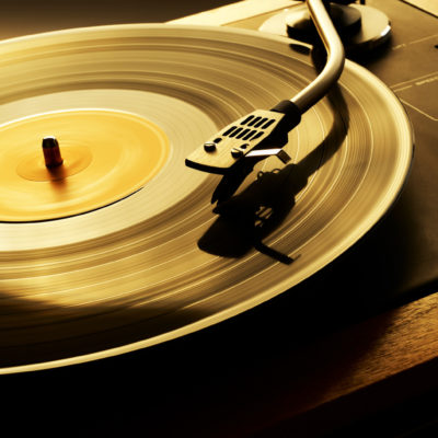 Record Spinning on Turn Table